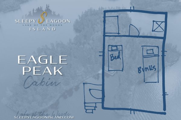 Lake of the Woods Cabin Rental Floor Layout - Eagle Peak Rustic Cabin